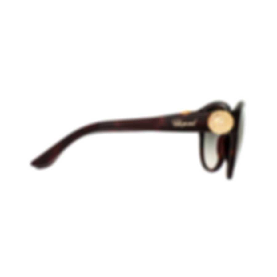 Chopard Grey Gradient, Dark Havana & Gold Cat-Eye Sunglasses 95221-0283