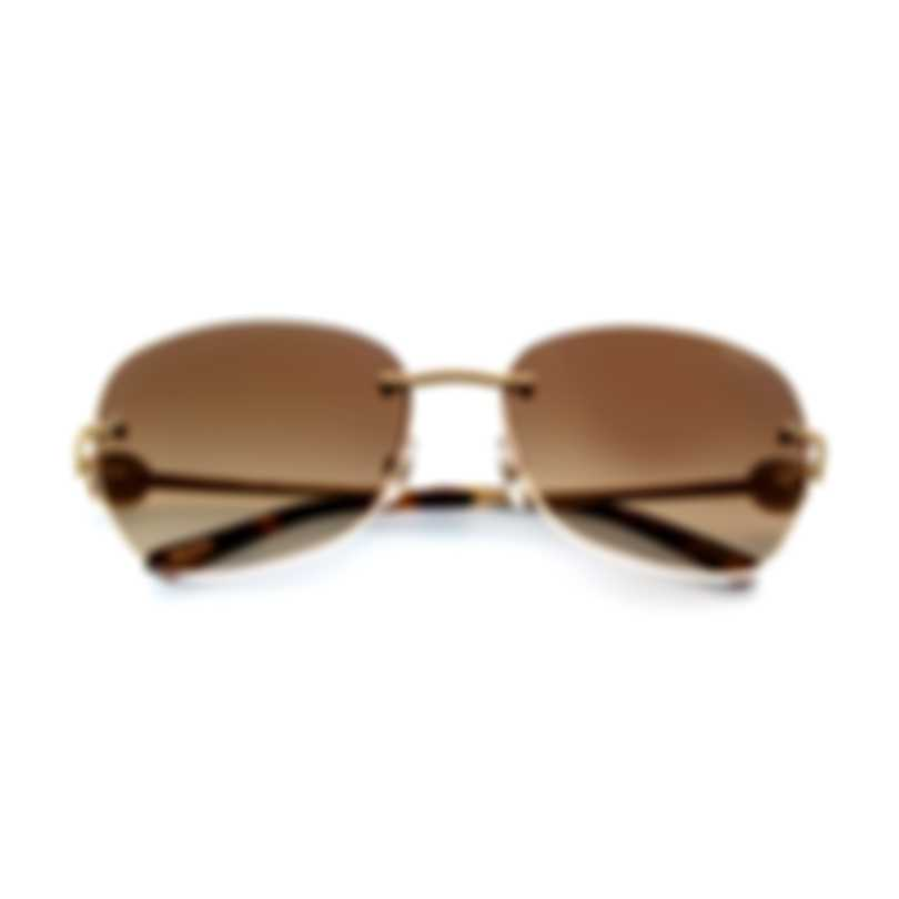 Chopard Brown And Gold Sunglasses 95221-0288