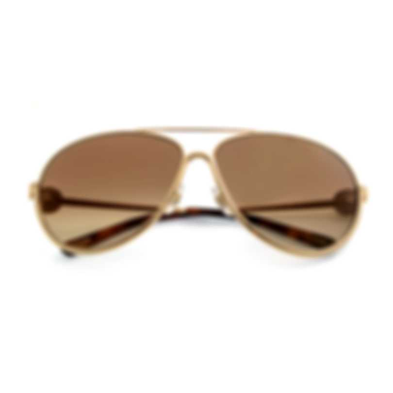Chopard Gold And Brown Sunglasses 95221-0294