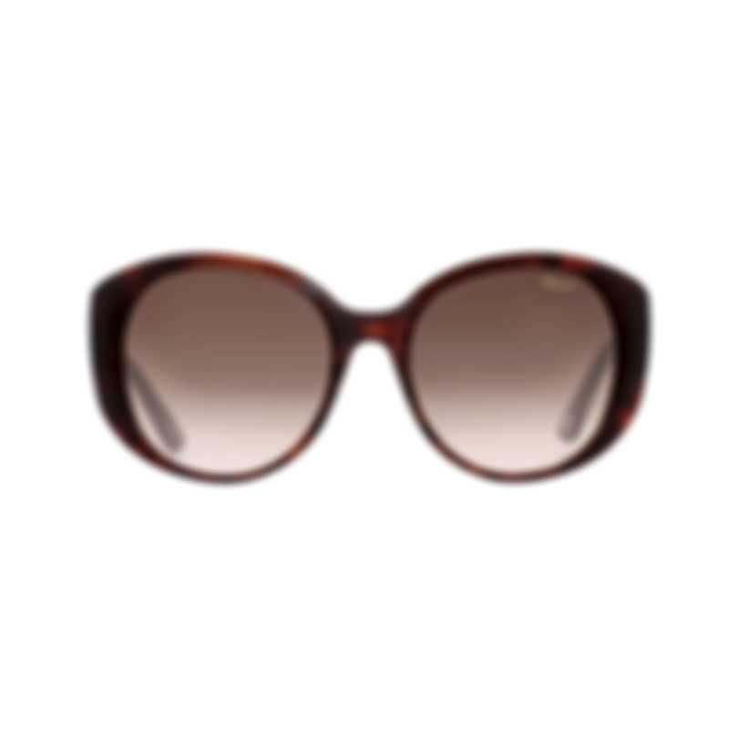 Chopard Brown & Tortoise Brown Cat-Eye Butterfly Shape Sunglasses 95221-0231