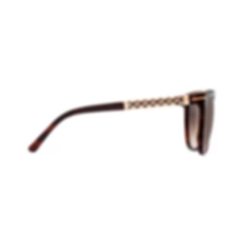 Chopard Brown & Dark Havana Cat-Eye Butterfly Shape Sunglasses 95221-0340