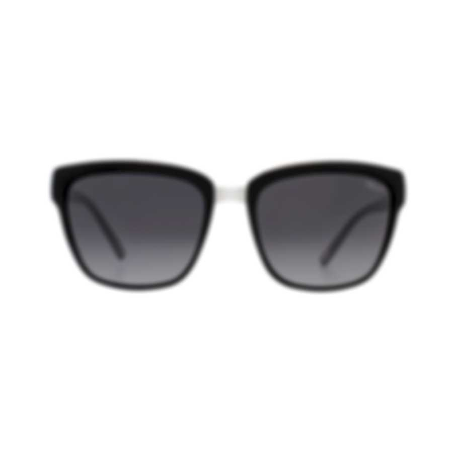 Chopard Imperiale Smoke Gradient & Black & Silver Square Sunglasses 95221-0354