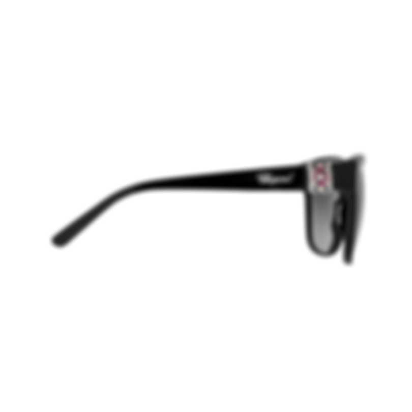Chopard Imperiale Smoke Gradient & Black & Silver Square Sunglasses 95221-0354