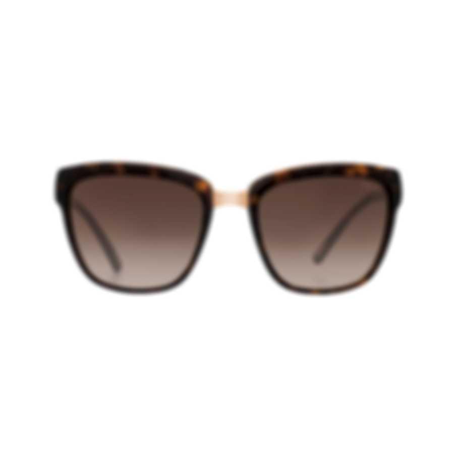 Chopard Imperiale Brown & Dark Havana Square Sunglasses 95221-0355