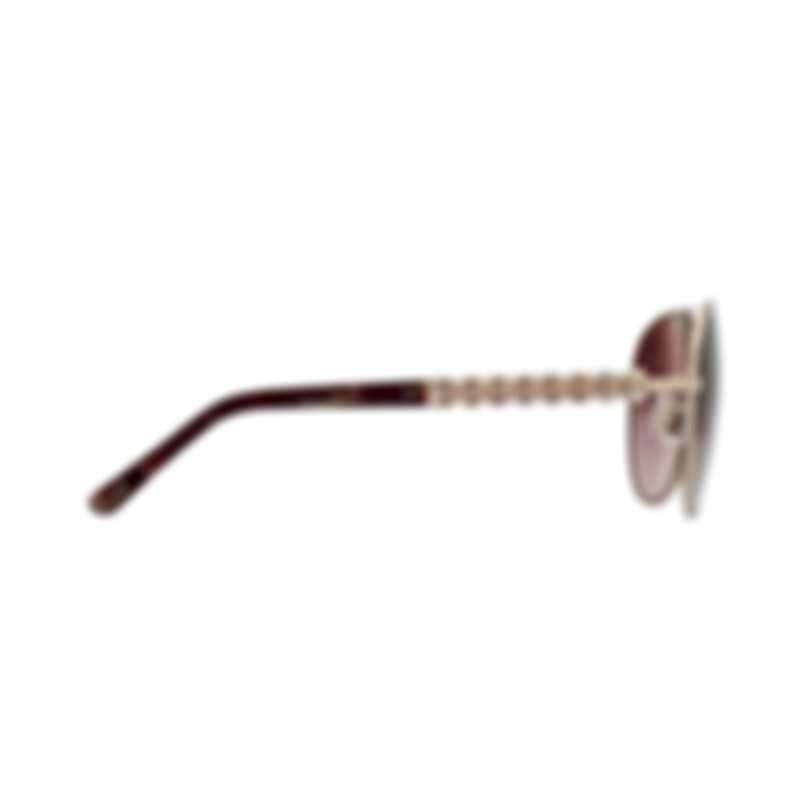 Chopard Designer Brown Gradient & Gold Aviator Style Sunglasses 95221-0303