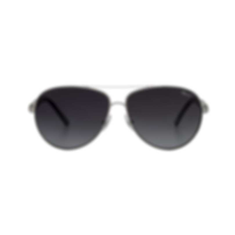 Chopard Designer Grey Gradient & Silver Aviator Style Sunglasses 95221-0301