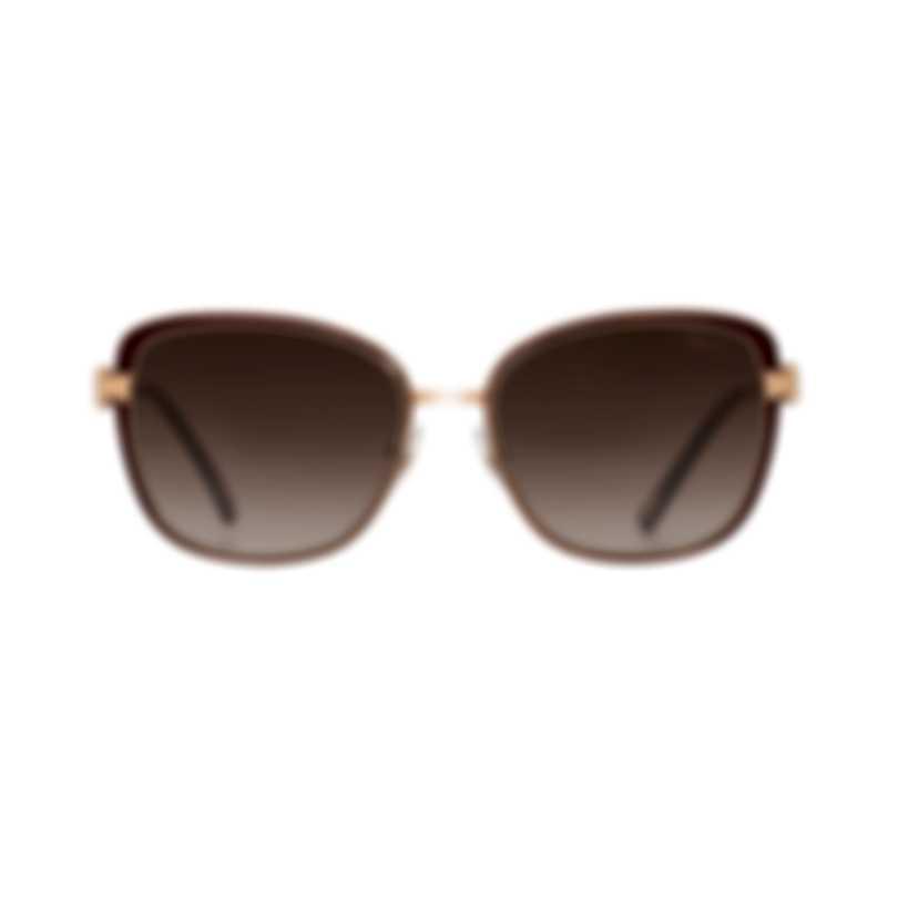 Chopard Brown Gradient & Bordeaux Cat-Eye Butterfly Shape Sunglasses 95221-0317