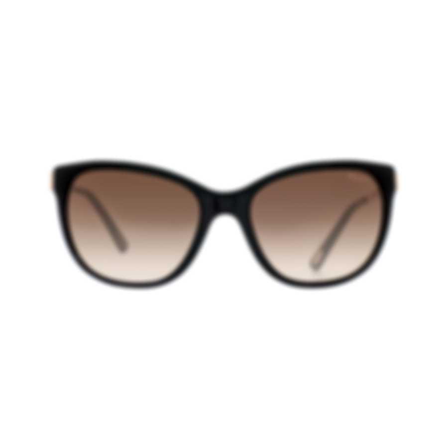 Chopard Brown Gradient & Black Cat-Eye Butterfly Shape Sunglasses 95221-0324