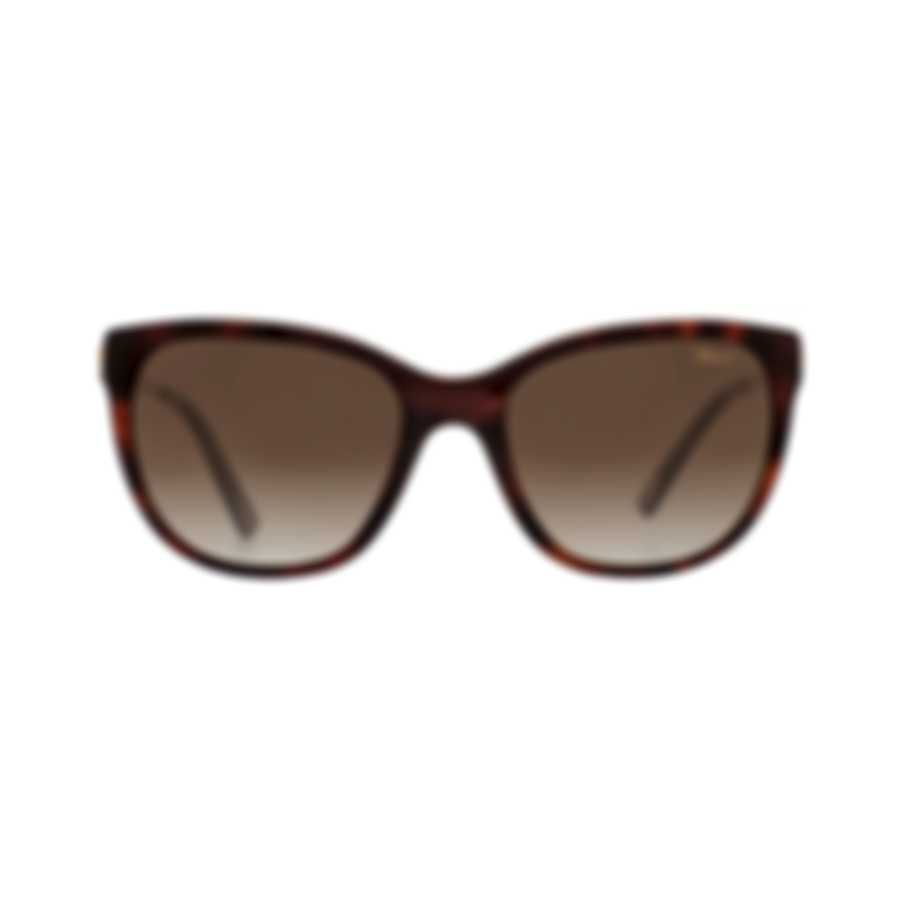 Chopard Brown Gradient, Dark Havana & Gold Cat-Eye Sunglasses 95221-0325