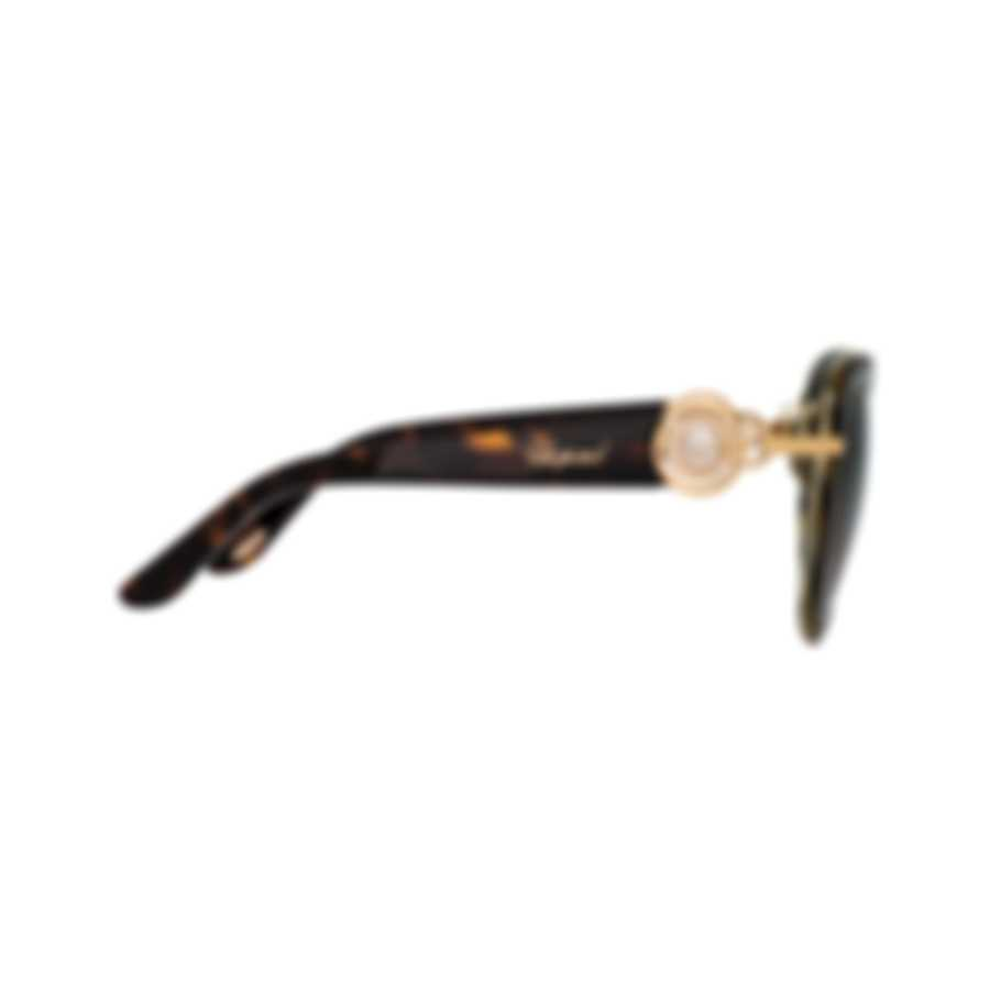 Chopard Brown Gradient, Dark Havana & Gold Cat-Eye Sunglasses 95221-0329