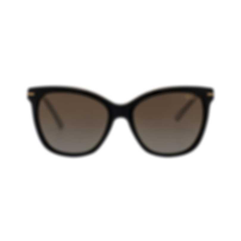 Chopard Brown & Black Cat-Eye Butterfly Shape Sunglasses 95221-0339