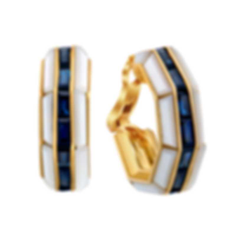 Assael 18k Yellow Gold And Sapphire Earrings E3447G