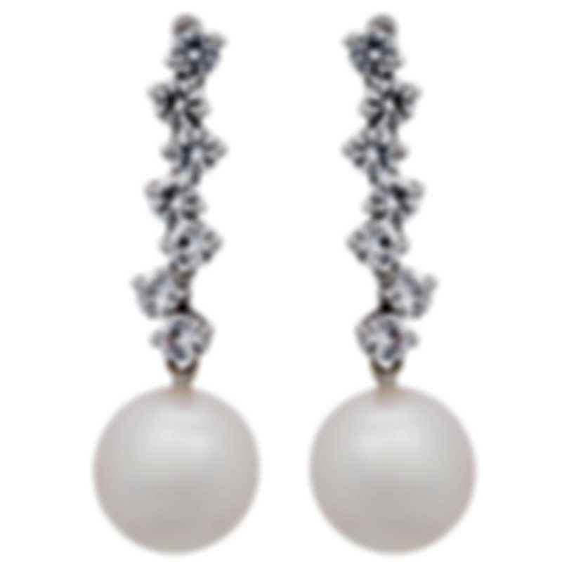 Assael 18k White Gold Diamond 1.65ct And Pearl Earrings E4512