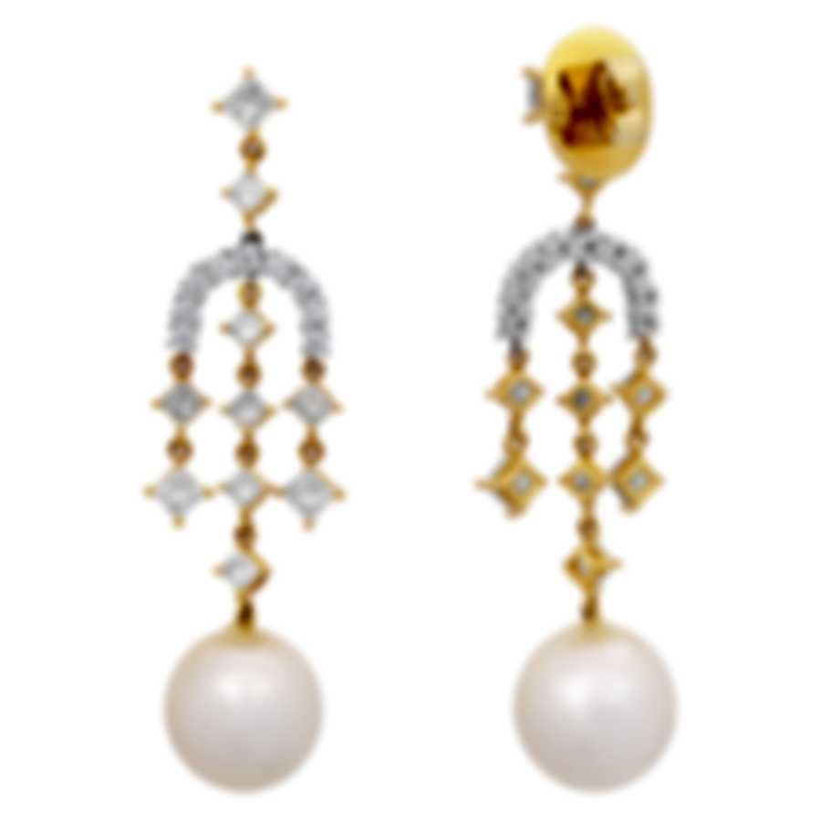 Assael 18k Yellow White Gold Diamond(3.06ct Twd) South Sea Pearl Earrings E4924