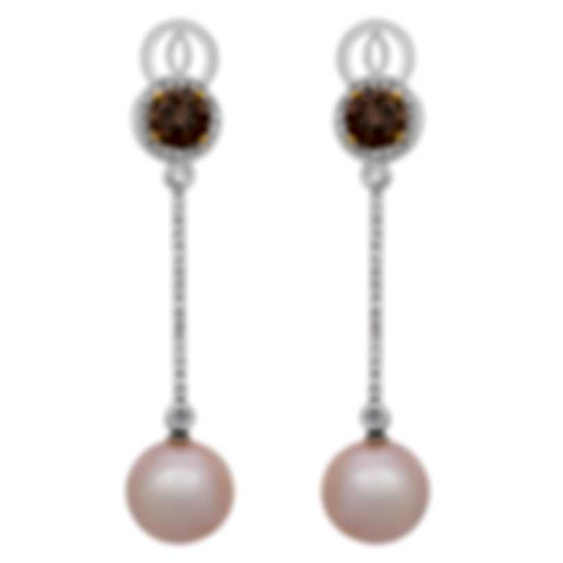 Assael 18k White And 18k Yellow Gold Diamond 2.69ct And Pearl Earrings E5493