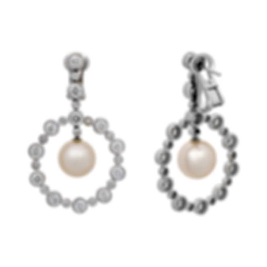Assael 18k White Gold Diamond 4.49ct And Pearl Earrings E5411