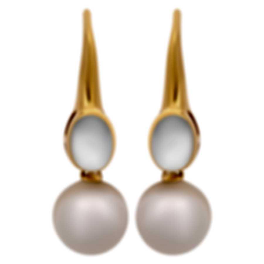 Assael 18k Yellow Gold And Moonstone Earrings E5602