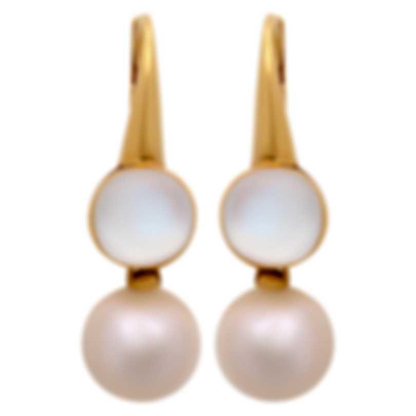Assael 18k Yellow Gold And Moonstone Earrings E5605