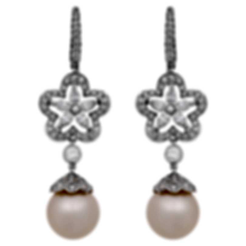Assael 18k White Gold Diamond 2.2ct And Pearl Earrings E5624