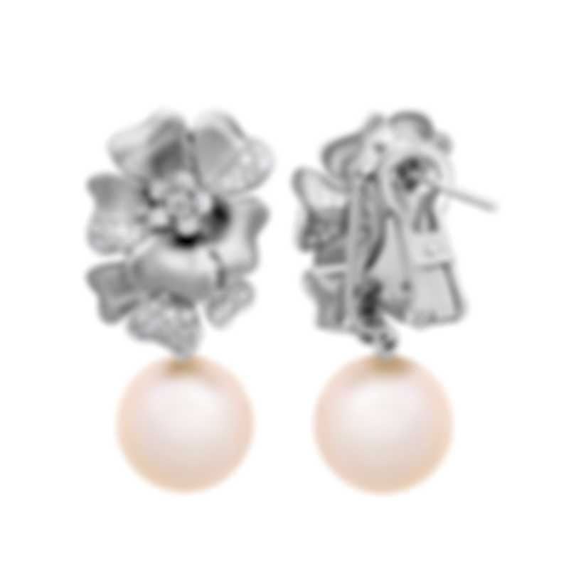 Assael 18k White Gold Diamond 0.74ct And Pearl Earrings E5999M