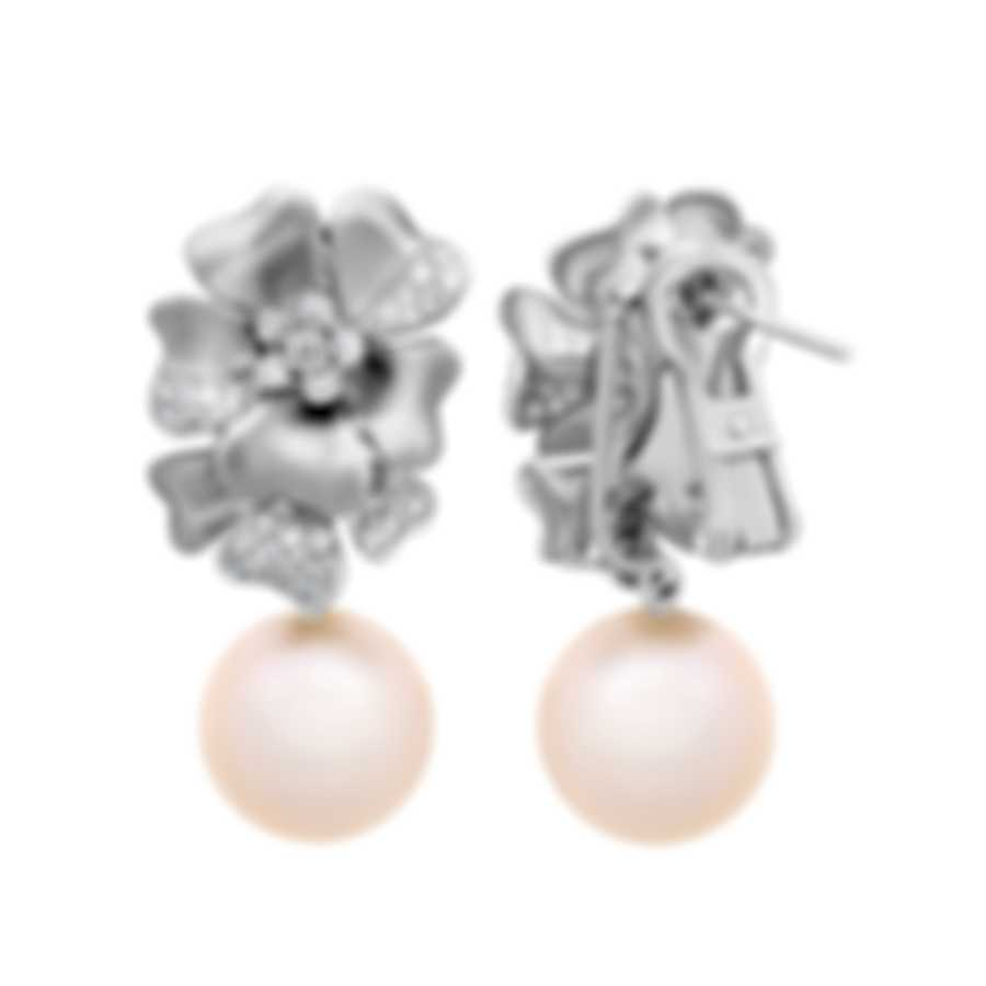 Assael 18k White Gold Diamond 0.74ct And Pearl Earrings E5999M