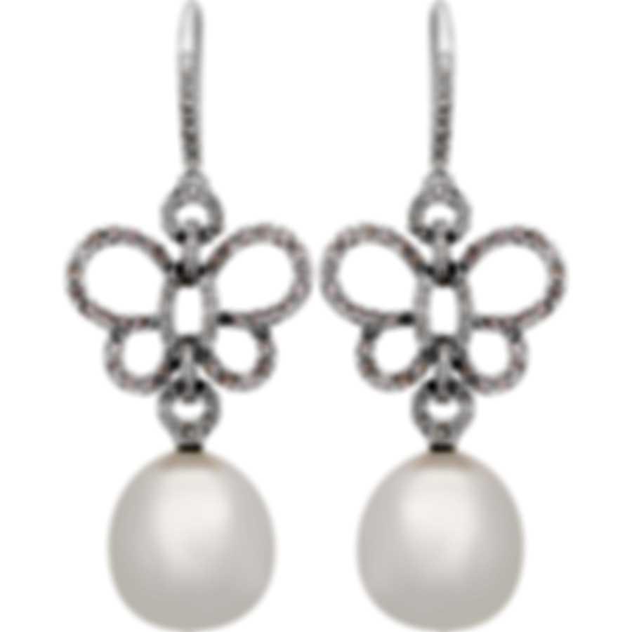 Assael 18k White Gold Diamond 1.18ct And South Sea Pearl Earrings E6170