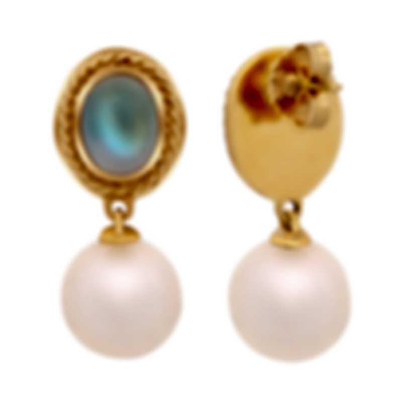 Assael 18k Yellow Gold And Moonstone Earrings E6138