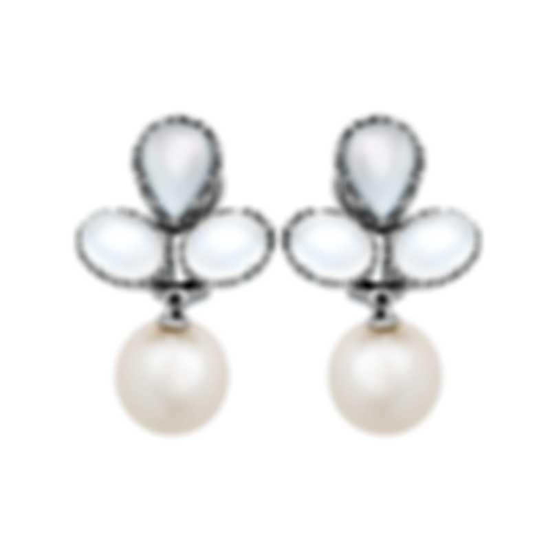 Assael 18k White Gold And Moonstone Earrings E6329