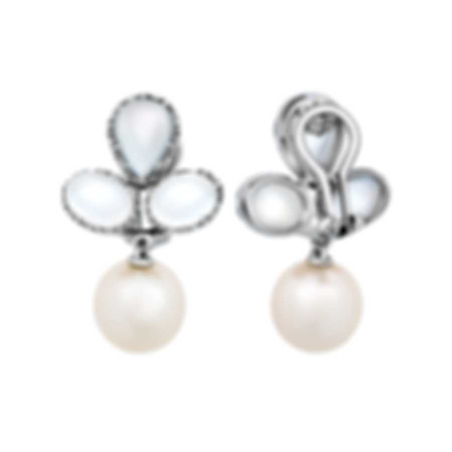 Assael 18k White Gold And Moonstone Earrings E6329