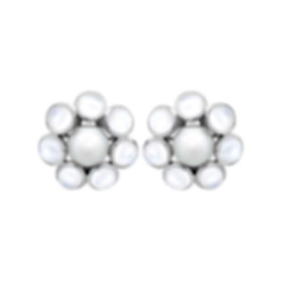 Assael 18k White Gold And Moonstone Earrings E6507