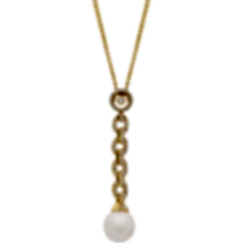 Assael 18k Yellow Gold Diamond 0.58ct And Pearl Necklace N3842