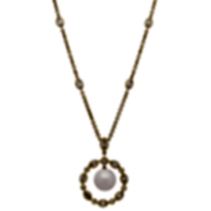Assael 18k Yellow Gold Diamond 1.67ct And Pearl Necklace N3884
