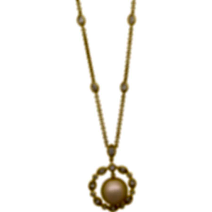 Assael 18k Yellow Gold Diamond 1.67ct And South Sea Pearl Necklace N3885