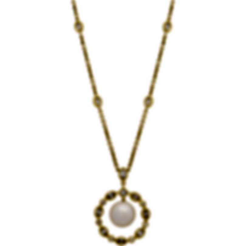 Assael 18k Yellow Gold Diamond 1.54ct And Pearl Necklace N3808