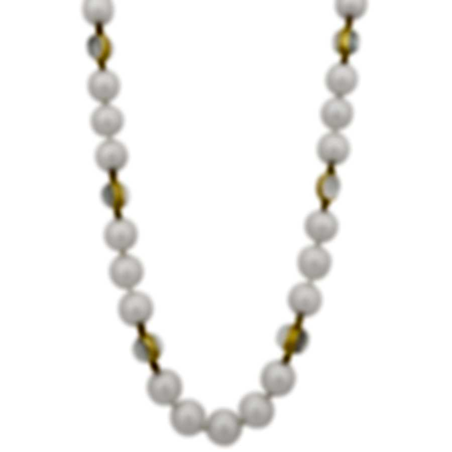 Assael 18k Yellow Gold Diamond And Moonstone Necklace N4261
