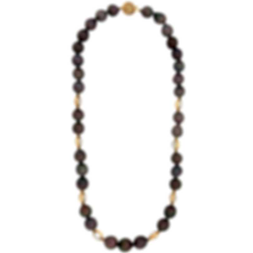 Assael 18k Yellow Gold Tahitian Pearl And Moonstone Necklace N4298