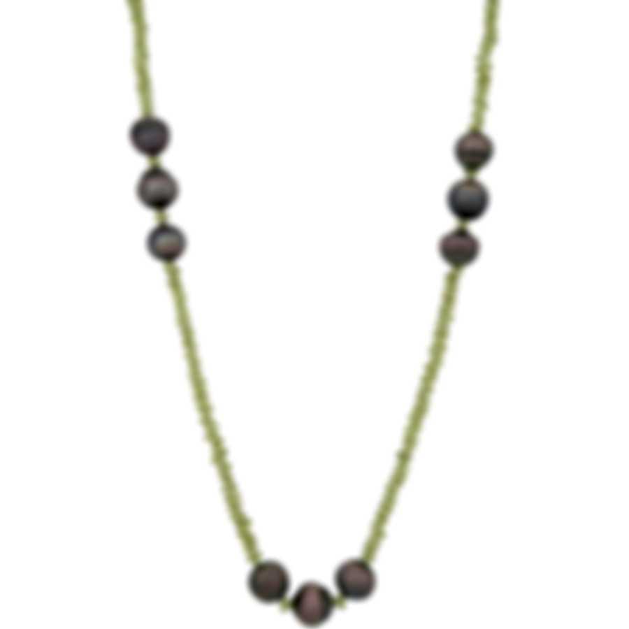 Assael Peridot And Tahitian Pearl Necklace N4753-3