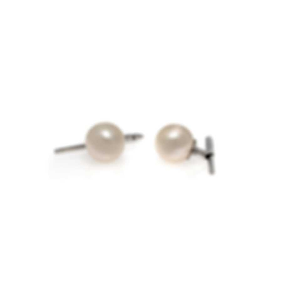 Assael 18k White Gold And Pearl CuffLinks P3528