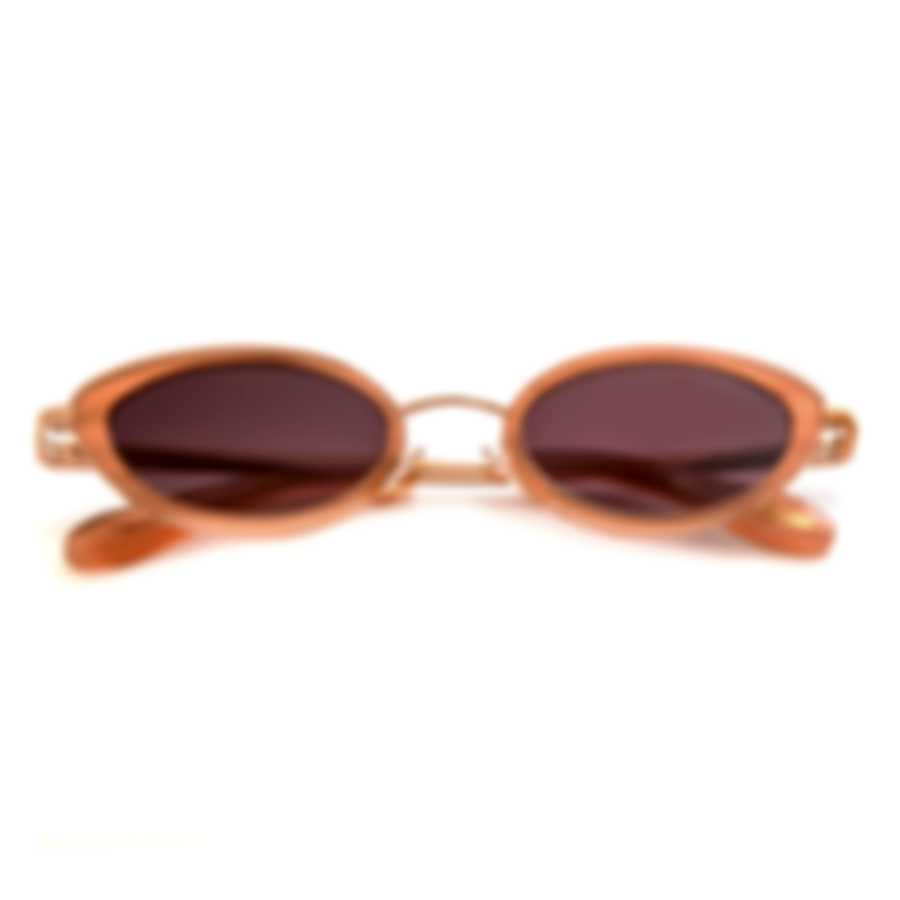 BCBG Rose Gold/Blush & Brown Cat Eye Sunglasses BA4024-780