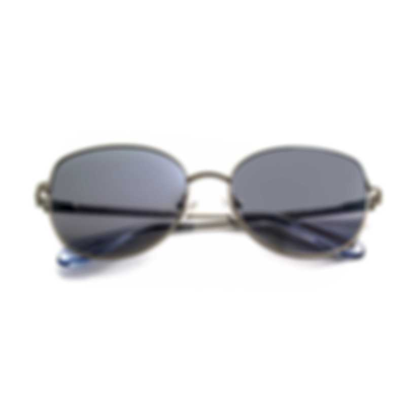BCBG Silver & Light Grey Cat Eye Sunglasses BA4026-045