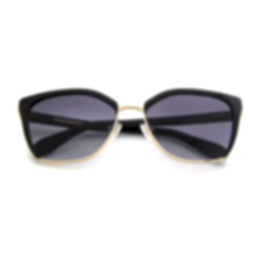 BCBG Black/Gold & Black Cat Eye Sunglasses BA4027-001