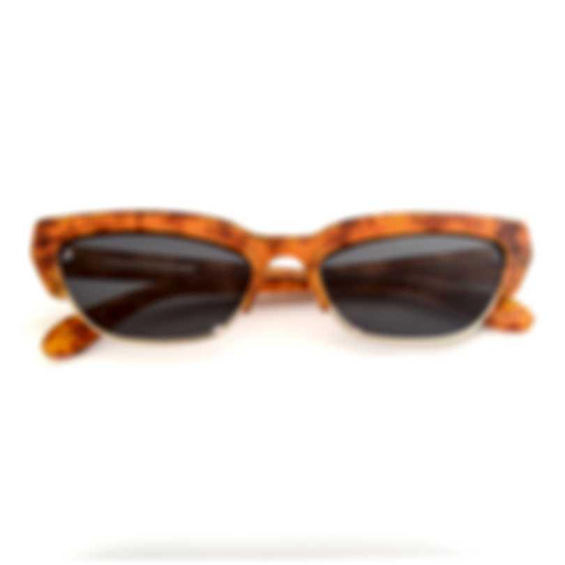 BCBG Honey Gold & Brown Cat Eye Sunglasses BA4029-227
