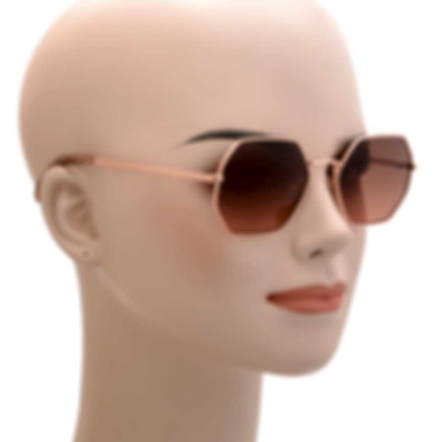 BCBG Rose Gold & Brown/Blush Retro Sunglasses BA4023-780
