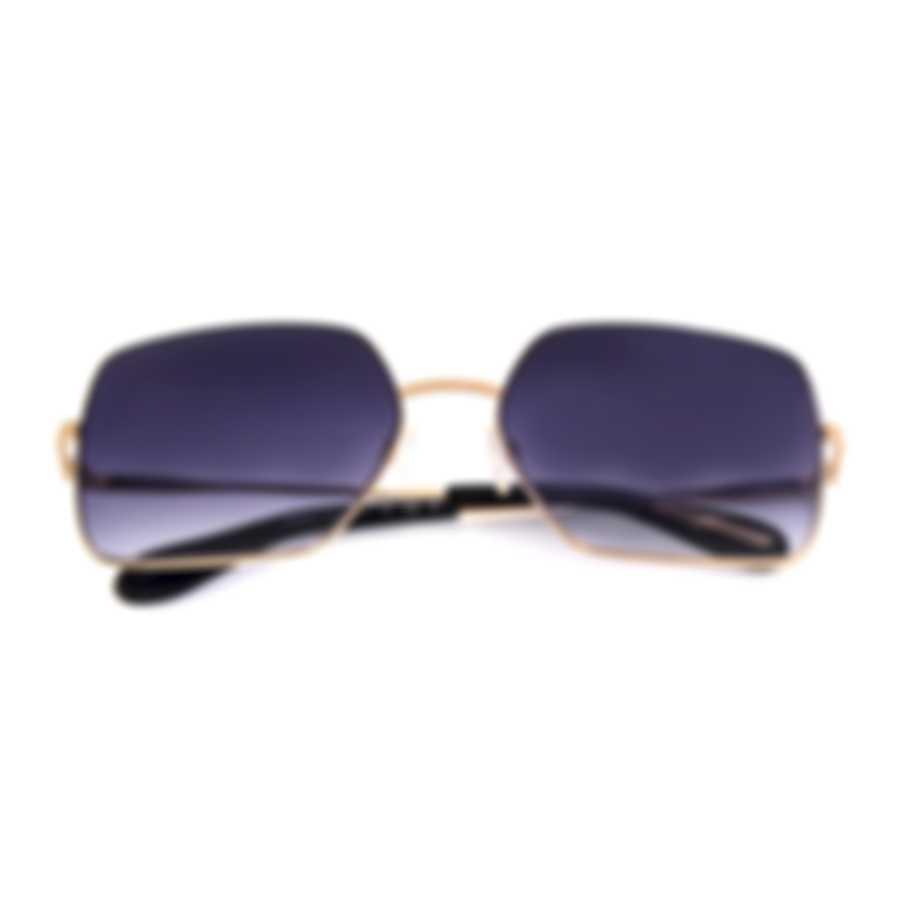 BCBG Light Gold & Black Retro Sunglasses BA4037-718