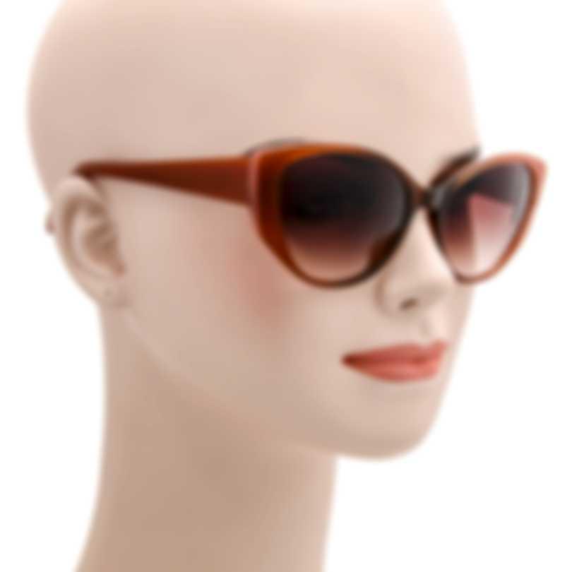 BCBG Brown & Brown Cat Eye Sunglasses BA5005-718