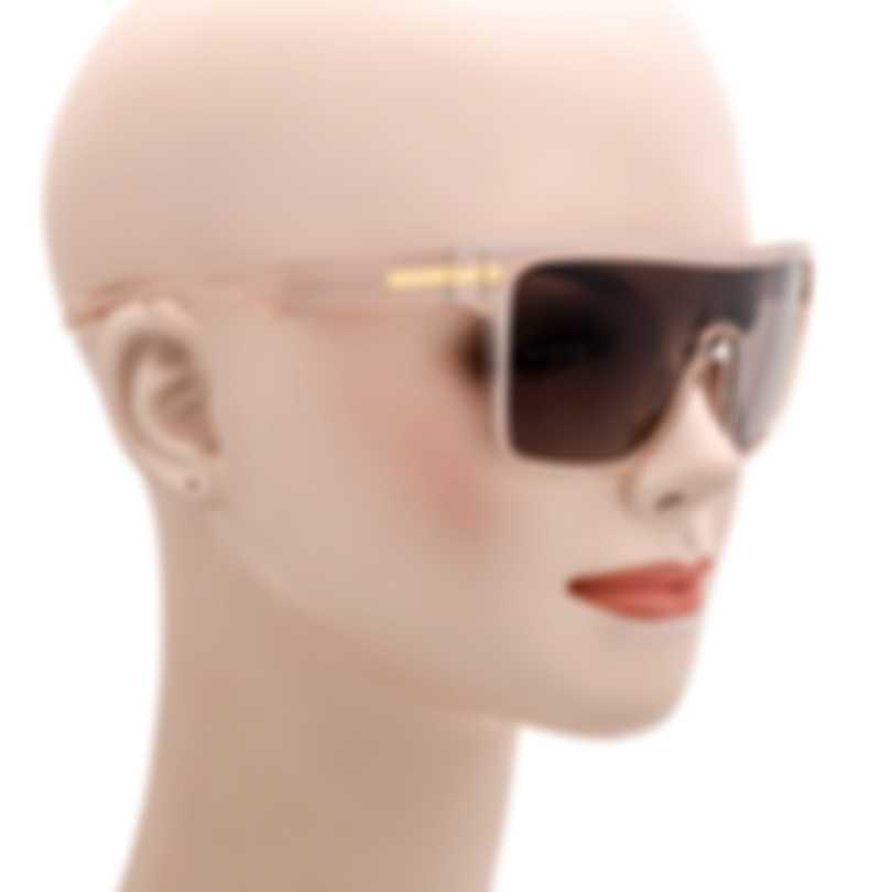 BCBG Blush & Brown Shield Sunglasses BA5016-651