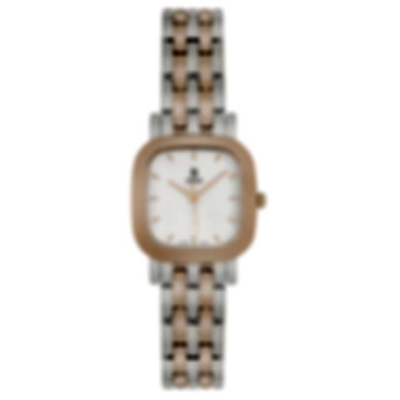 B Swiss Dress Square Two-Tone Quartz Women's Watch 00.90012.35.73.21