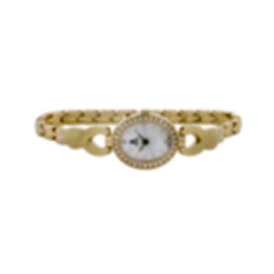 B Swiss Dress Oval Gold Pvd Quartz Women's Watch 00.90016.10.79.31
