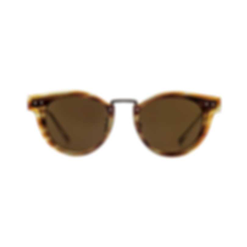 Bottega Veneta Brown And Ruthenium Metal Unisex Sunglasses BV0117S-003 MSRP $540.00