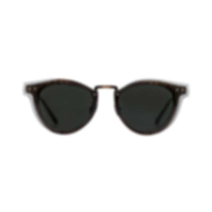 Bottega Veneta Gray And Brown Metal Unisex Sunglasses BV0117S-001 MSRP $540.00